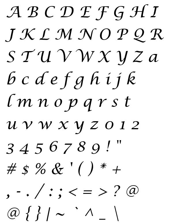 Fuente Lucida Calligraphy Italic descargar, bajar Fuentes gratis ...