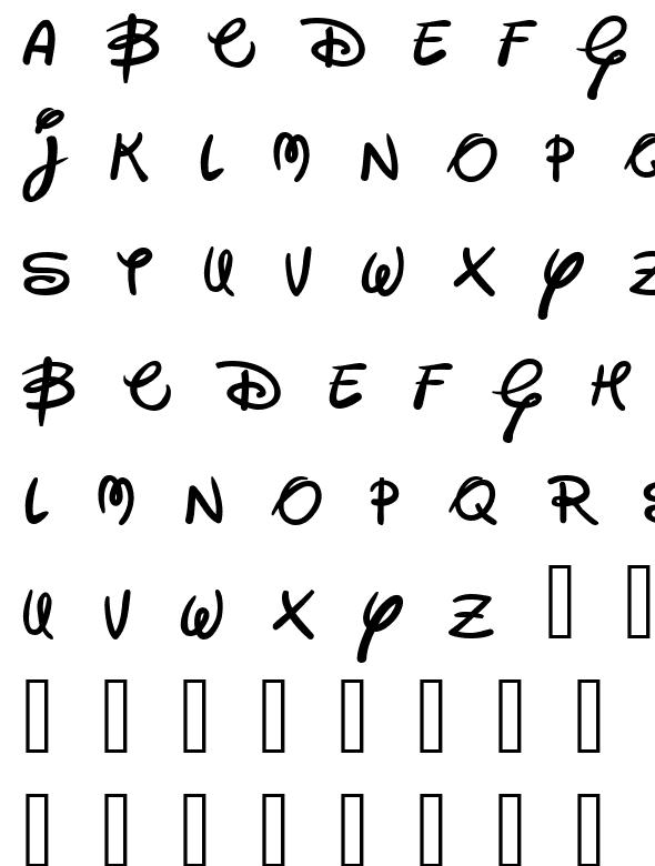 fuentes de letras disney:
